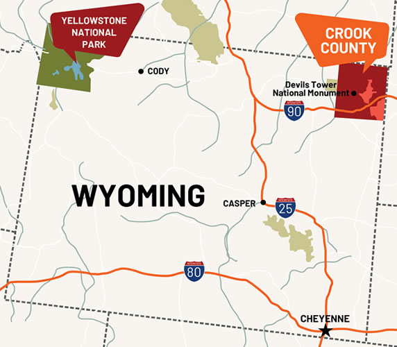 Crook County, Wyoming Map